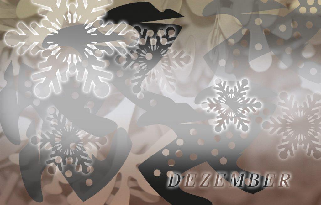 Kalt im Dezember: die Grafik-Design-Idee
