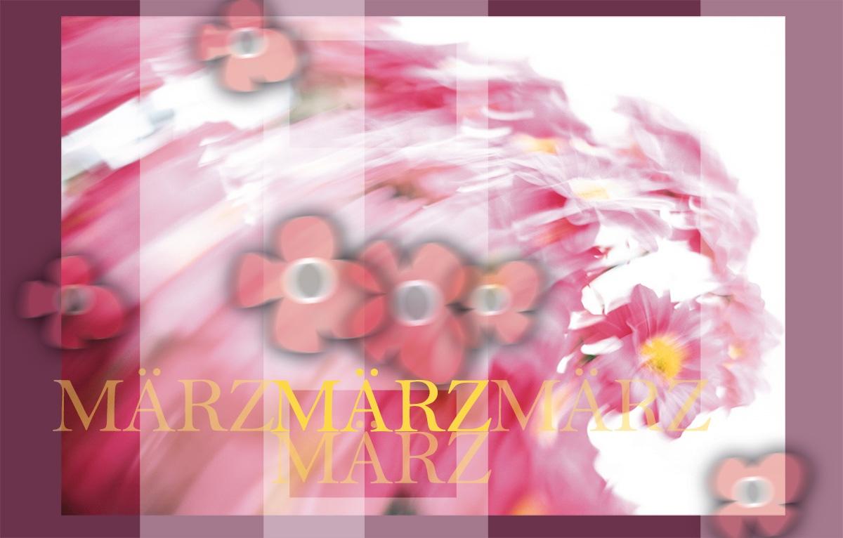 Der Frühling im März: Grafik-Design-Idee
