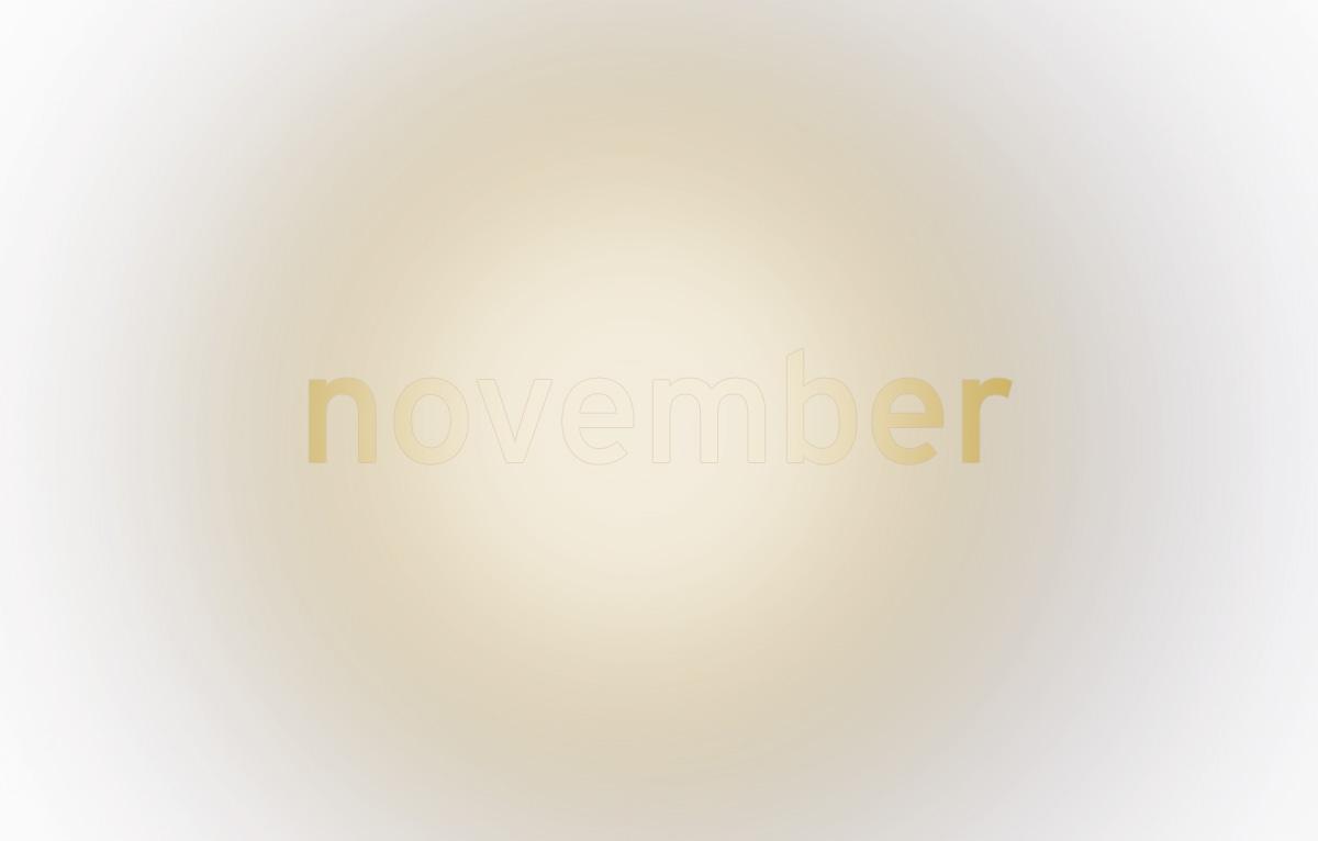 Nebel im November oder …